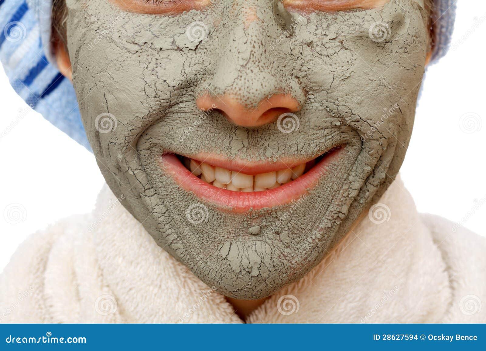 Gli Effetti Della Maschera Di Protezione Dell'argilla Immagini Stock - Immagine: 28627594