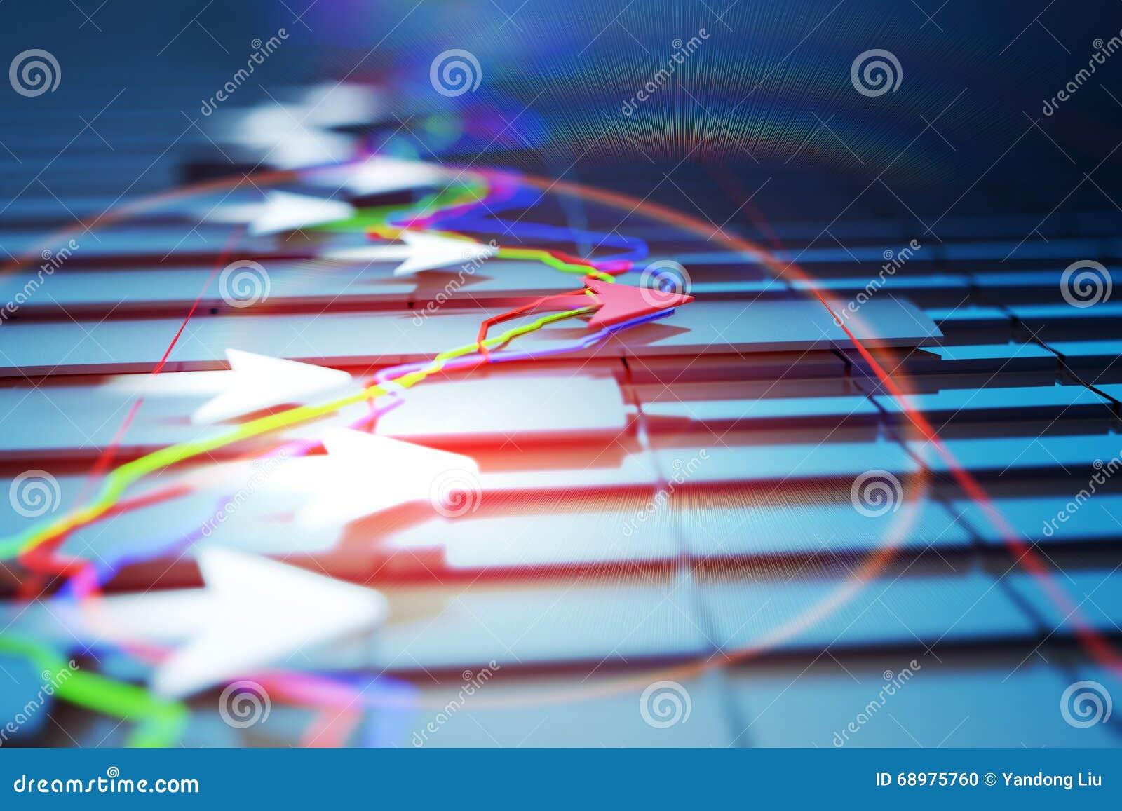 Gli indicatori economici e si muovono in avanti con la freccia