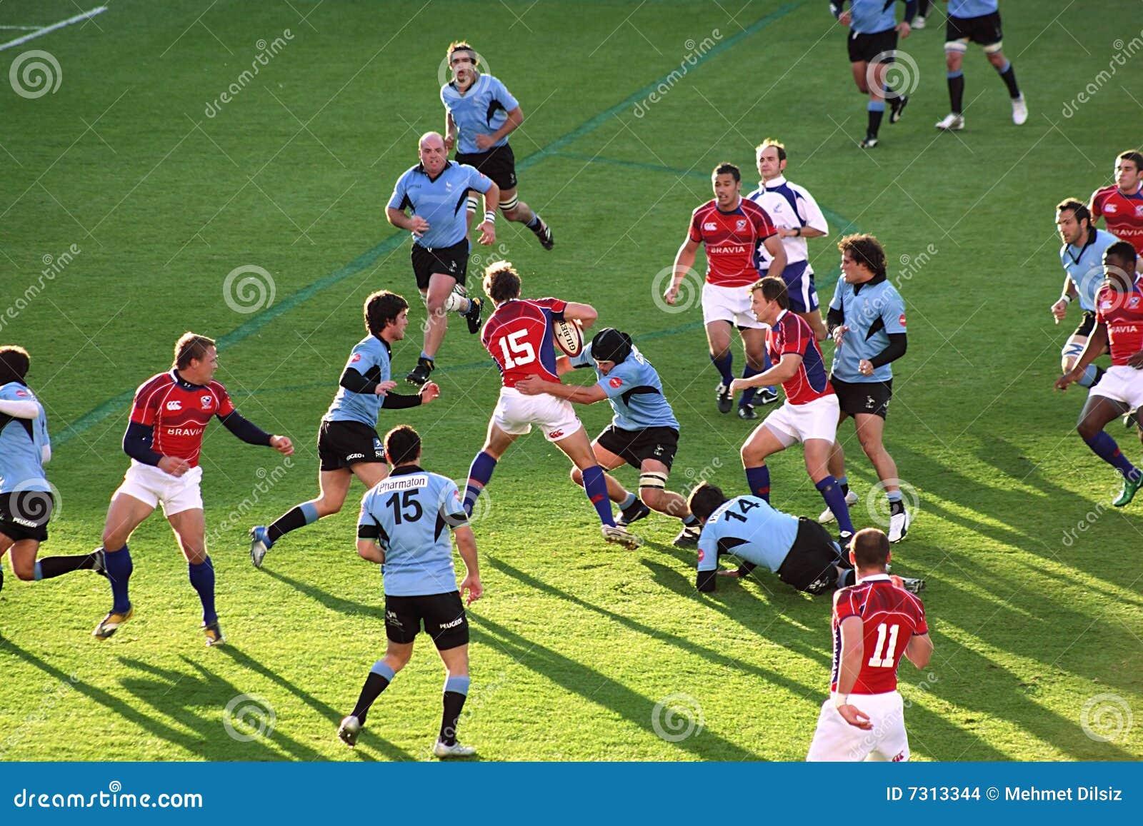 Gli S.U.A. Eagles contro il gioco di rugby nazionale dell Uruguai
