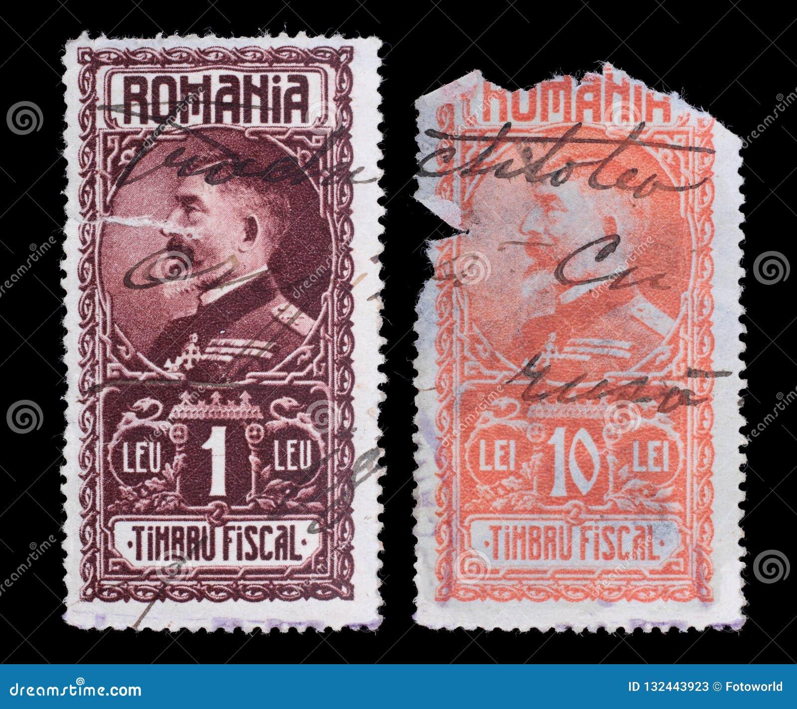 Gli Stati Uniti Francobolli romania Re raro 1927 Ferdinand I