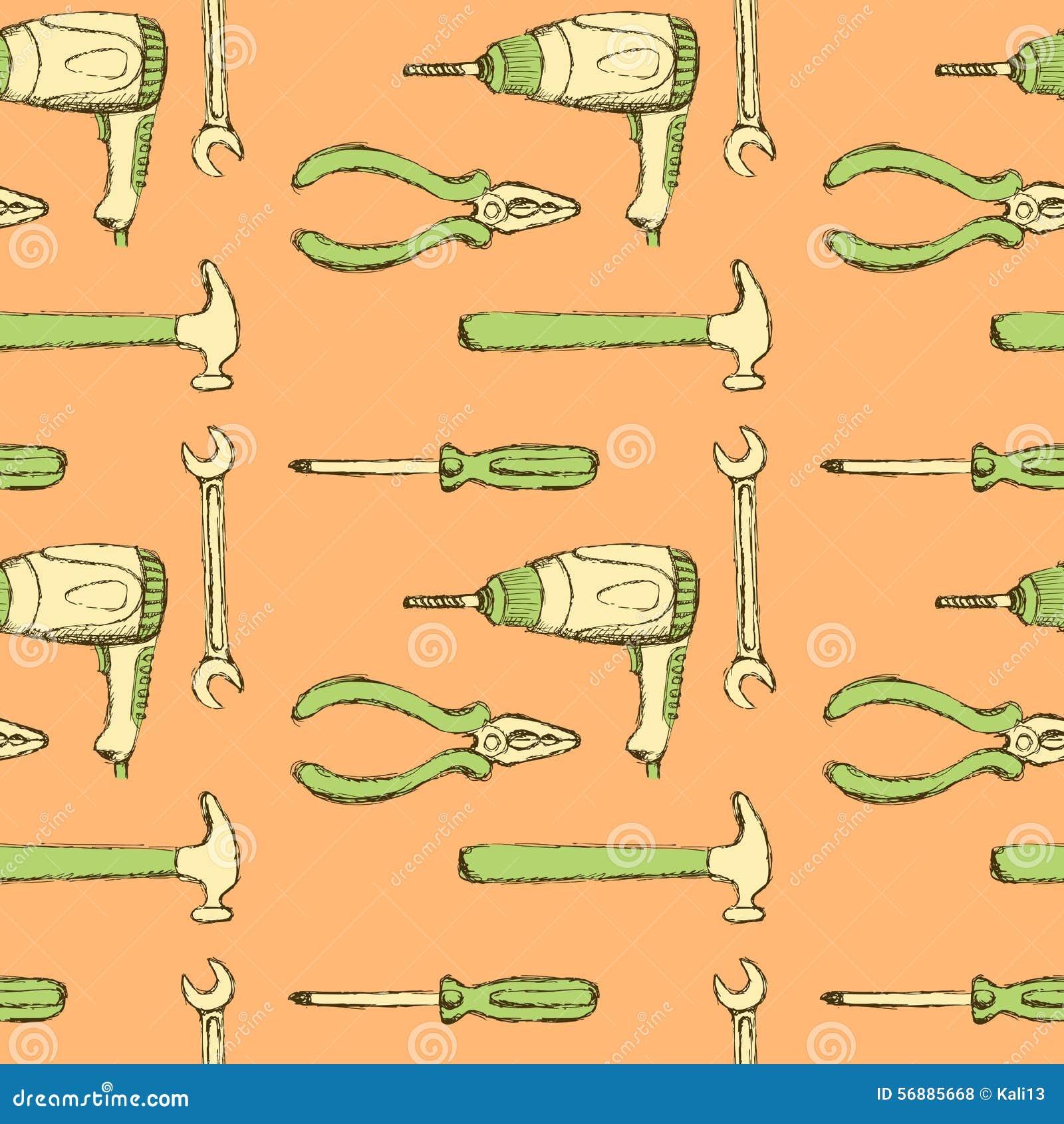 Gli strumenti di schizzo e perforano dentro lo stile d annata