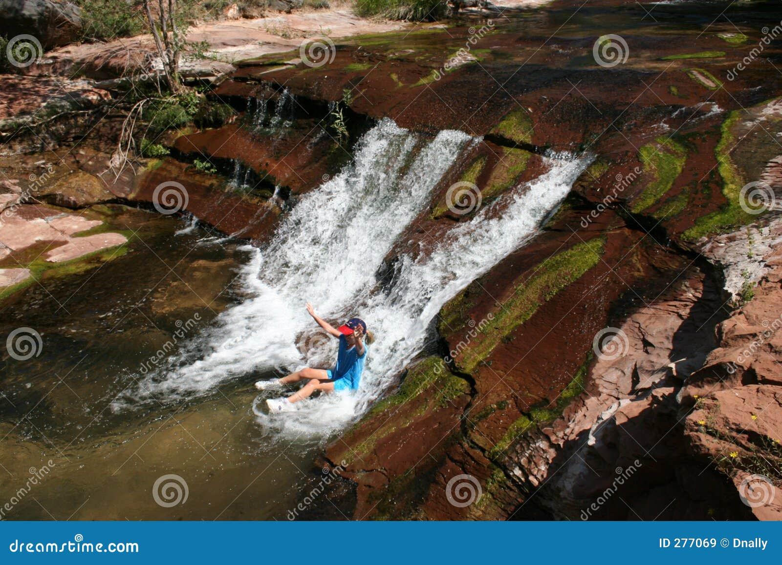 Glidbanavatten för natur s