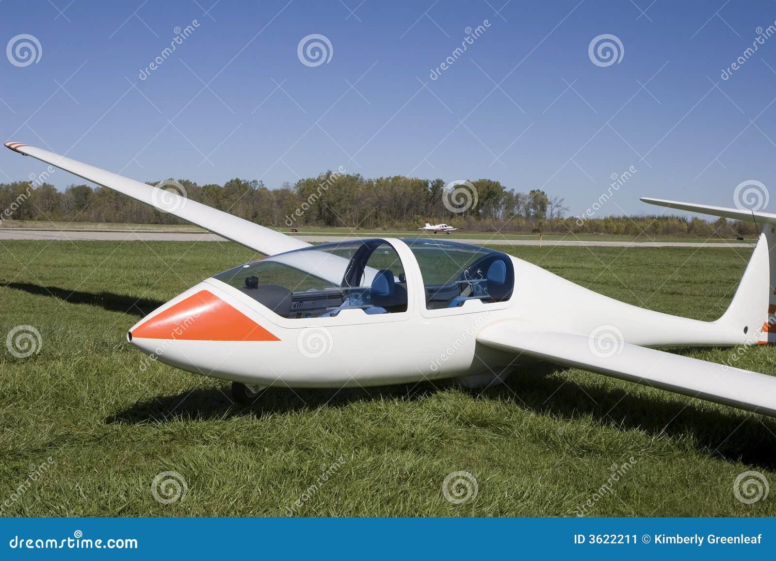 glider sailplane stock image image of outside flying 3622211