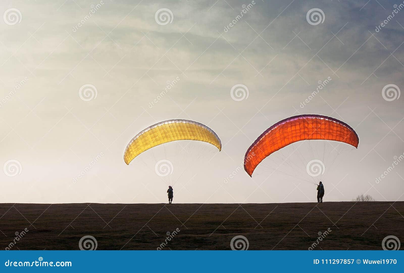 Gliding parachute stock image  Image of parachute, competitive