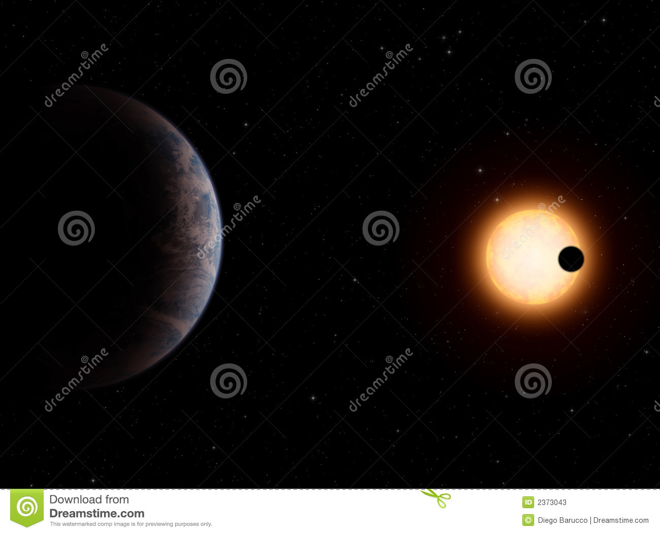 Gliese581-c Extrasolar Planet Stock Photos - Image: 2373043