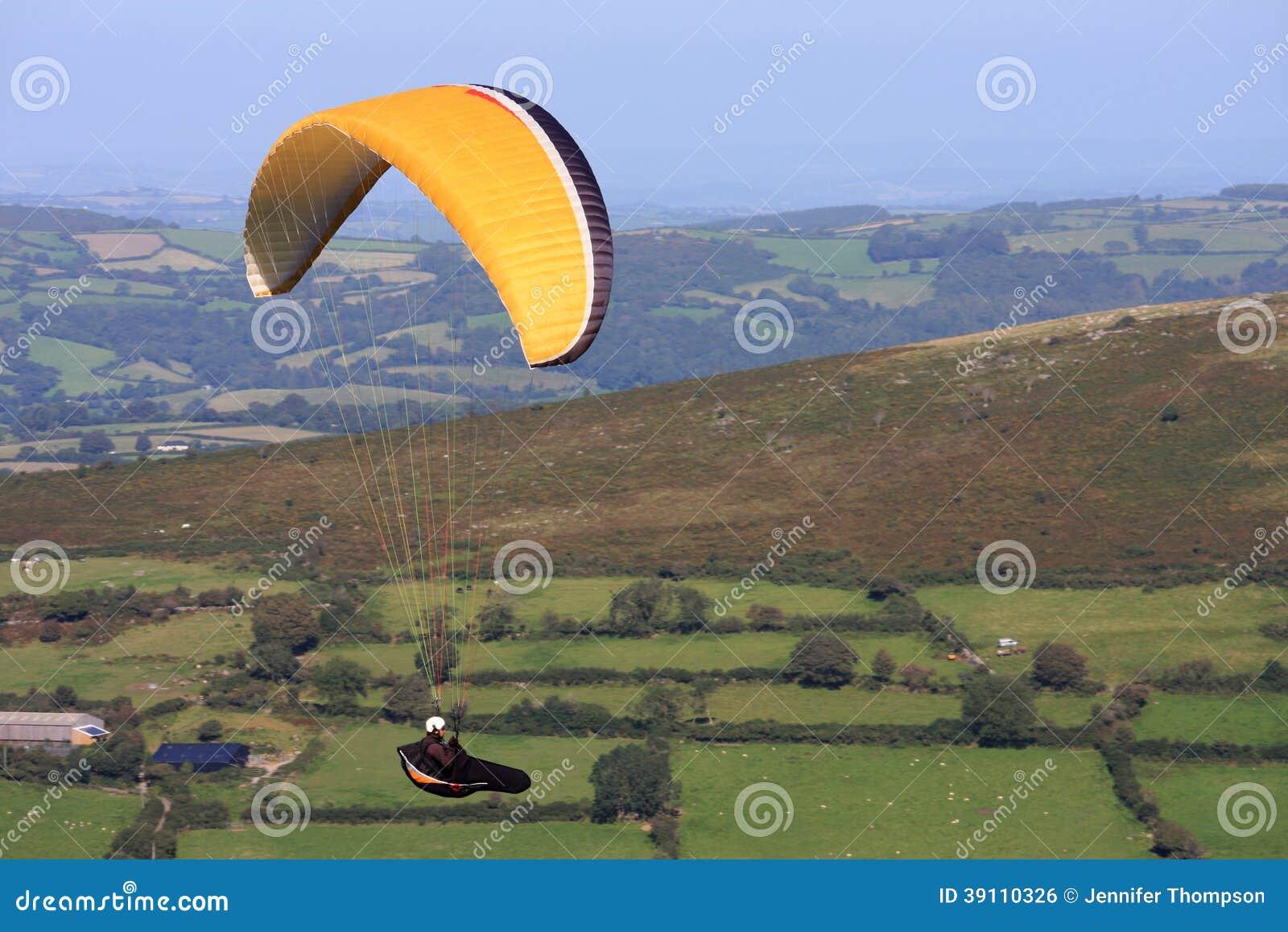 Glijscherm over Dartmoor