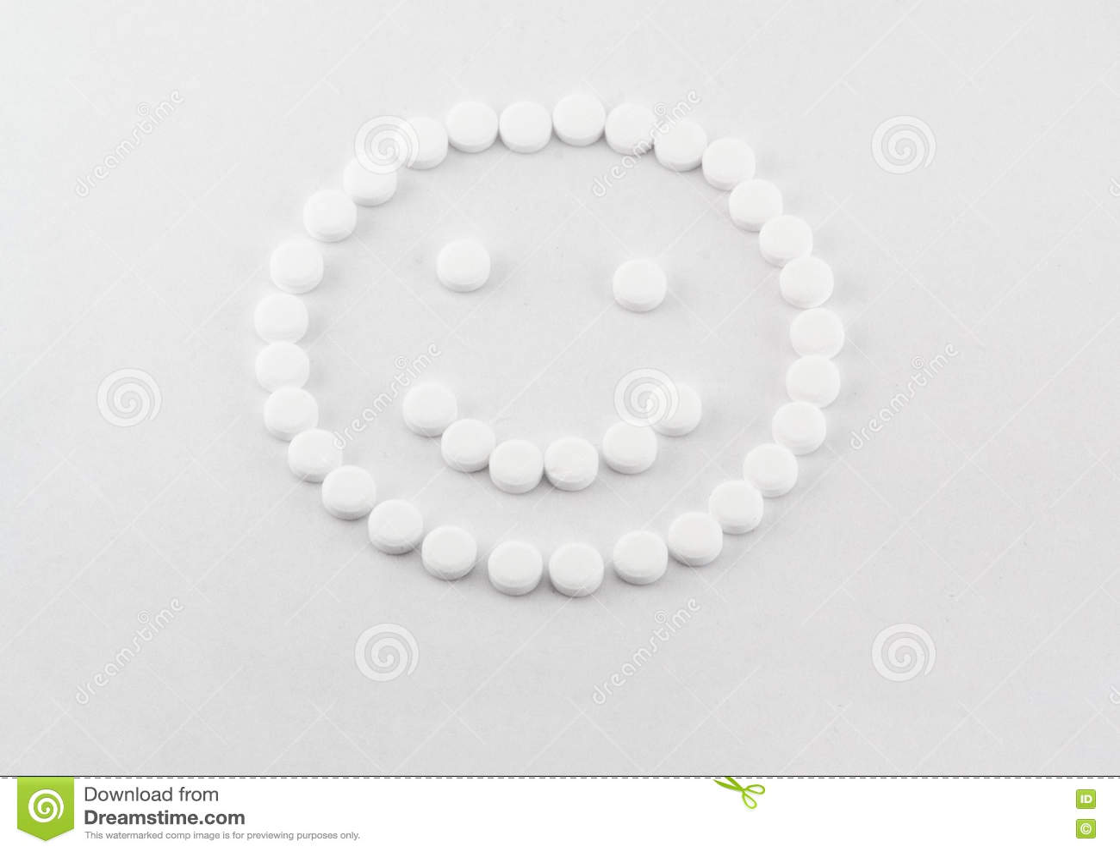 Glimlach van tabletten