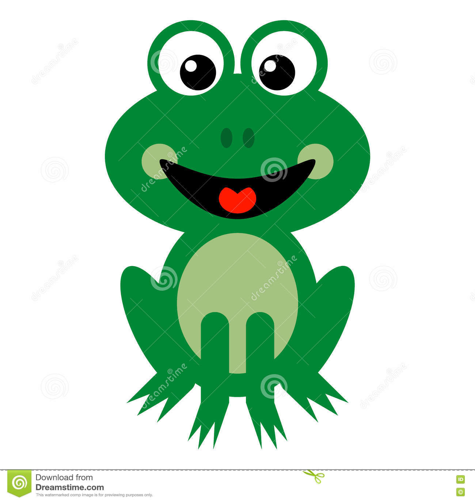 Glimlachend Groen Kikkerbeeldverhaal