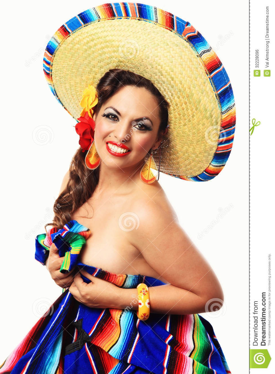 Glimlachend Mexicaans Pin Up Girl