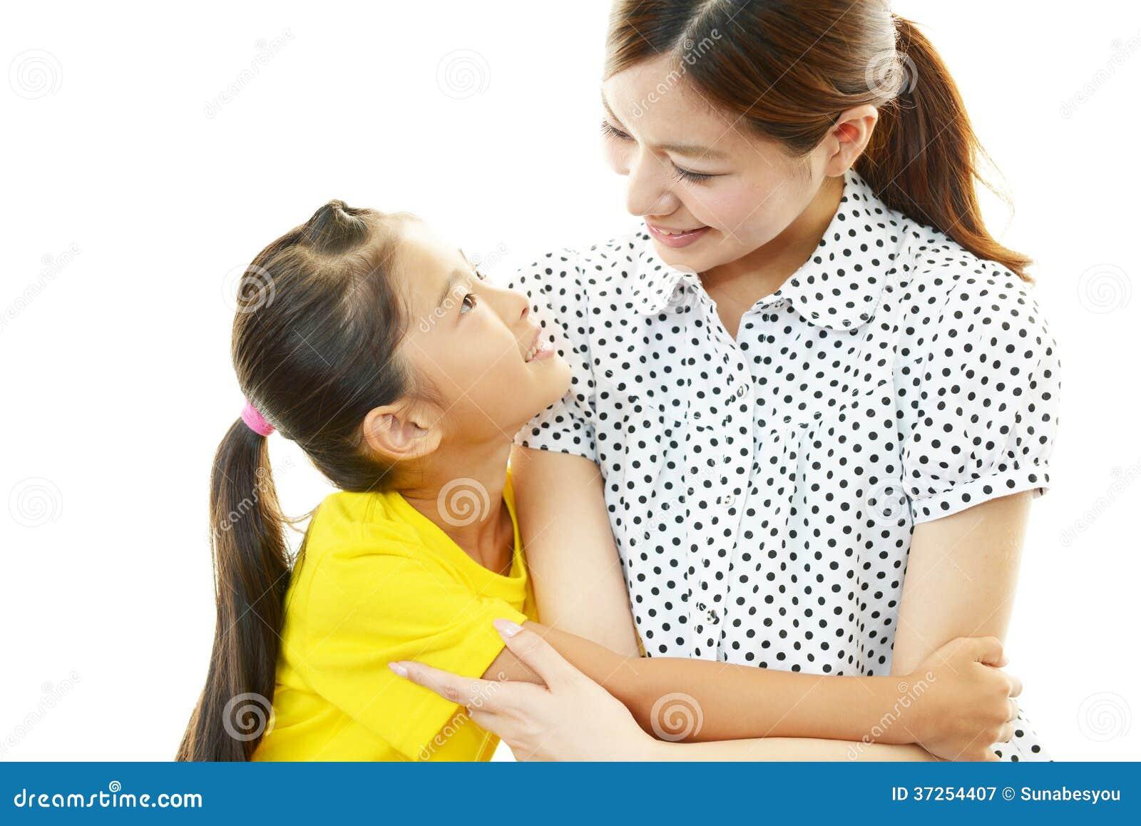 Glimlachend moeder en kind