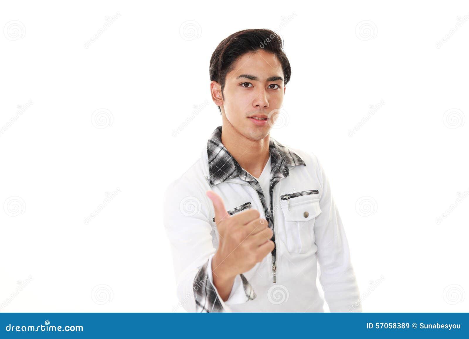 Glimlachende Aziatische mens