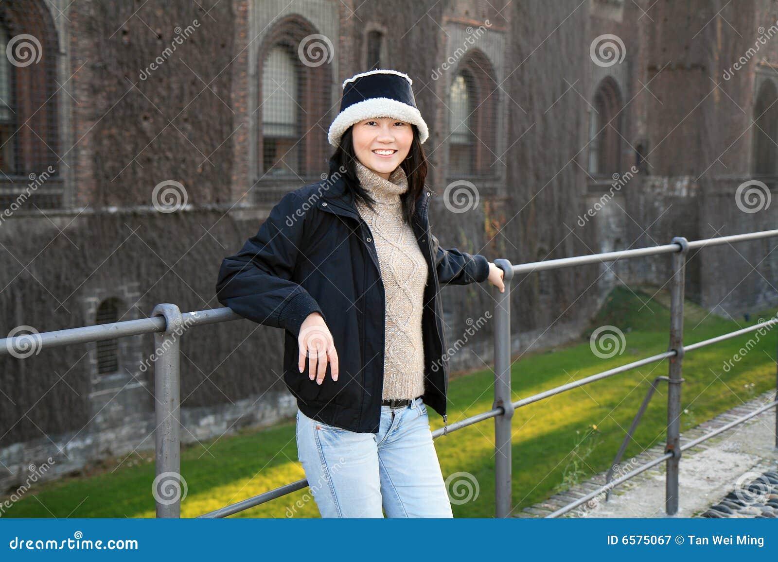 Glimlachende Aziatische Vrouw