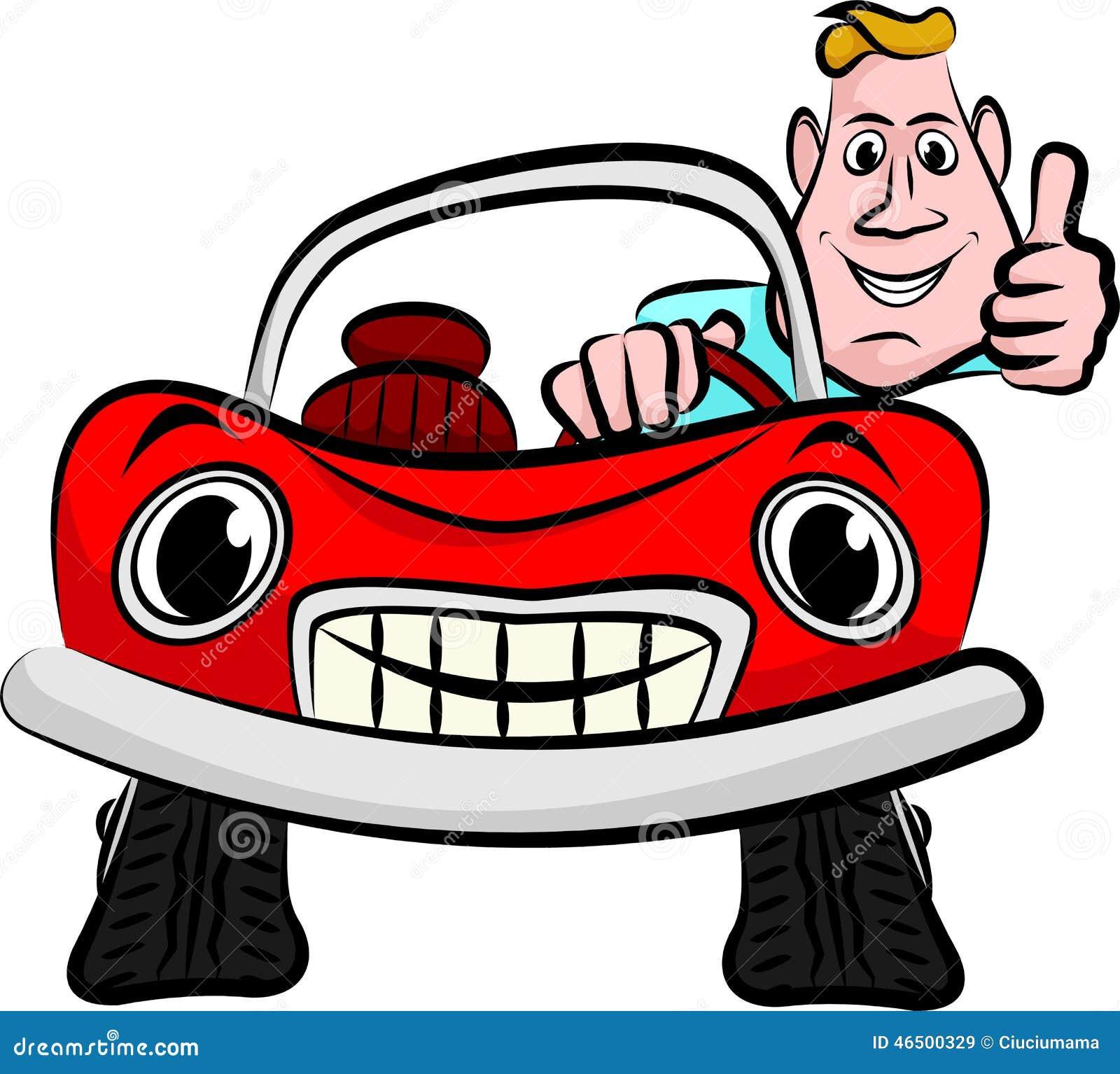 Glimlachende en gelukkige bestuurder