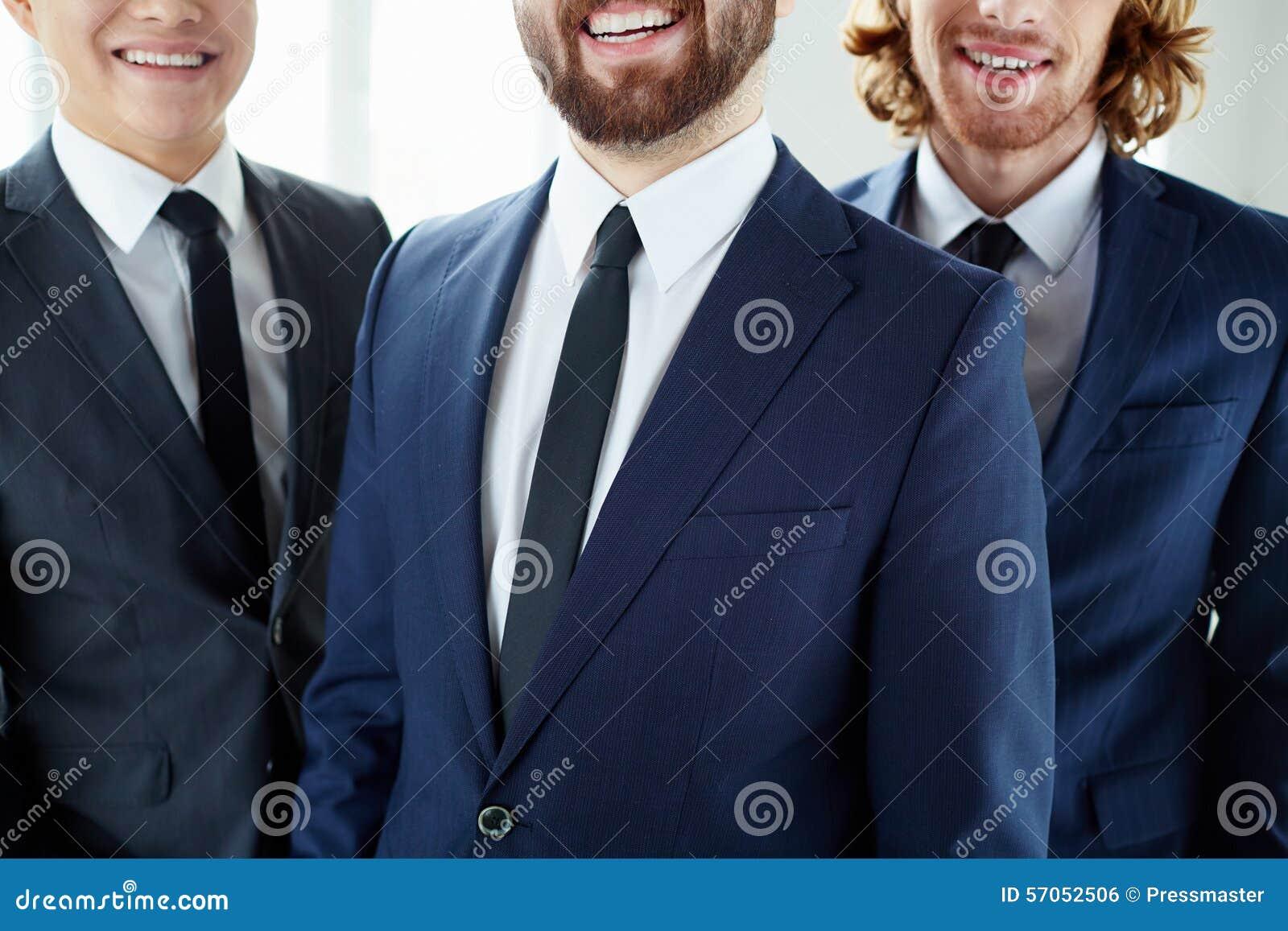 Glimlachende Zakenlieden