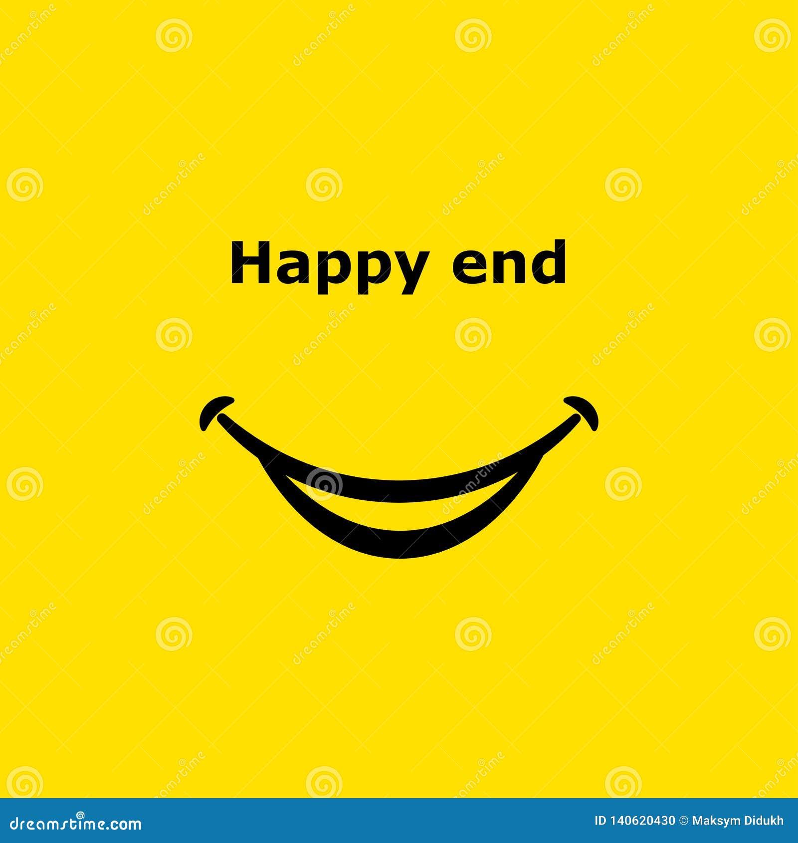 Glimlachpictogram Gelukkig eind Vector illustratie Eps 10