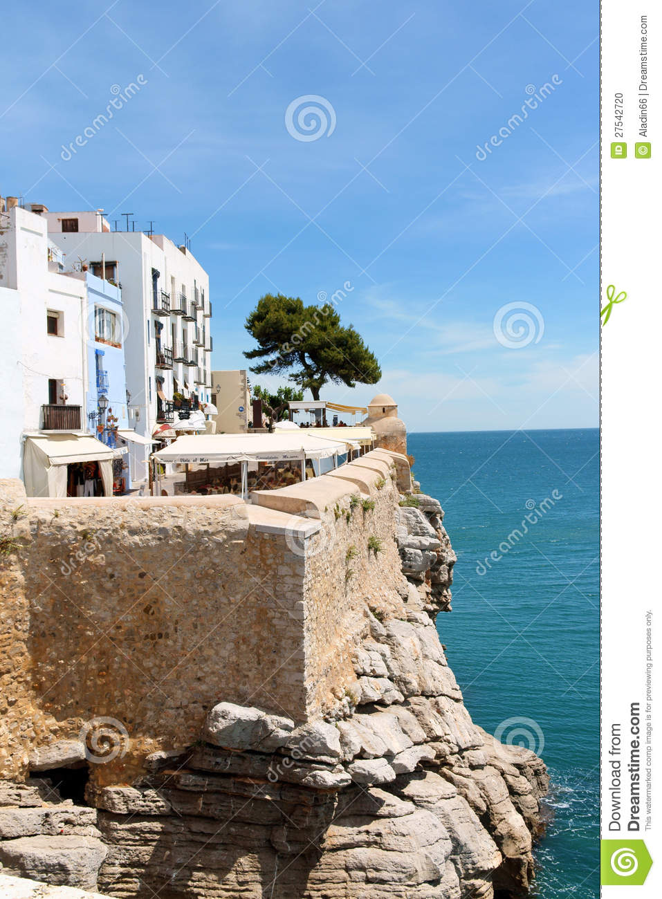 Peniscola Spain  city images : Peniscola, Spain May 31, 2010: Glimpse of Peniscola with its white ...