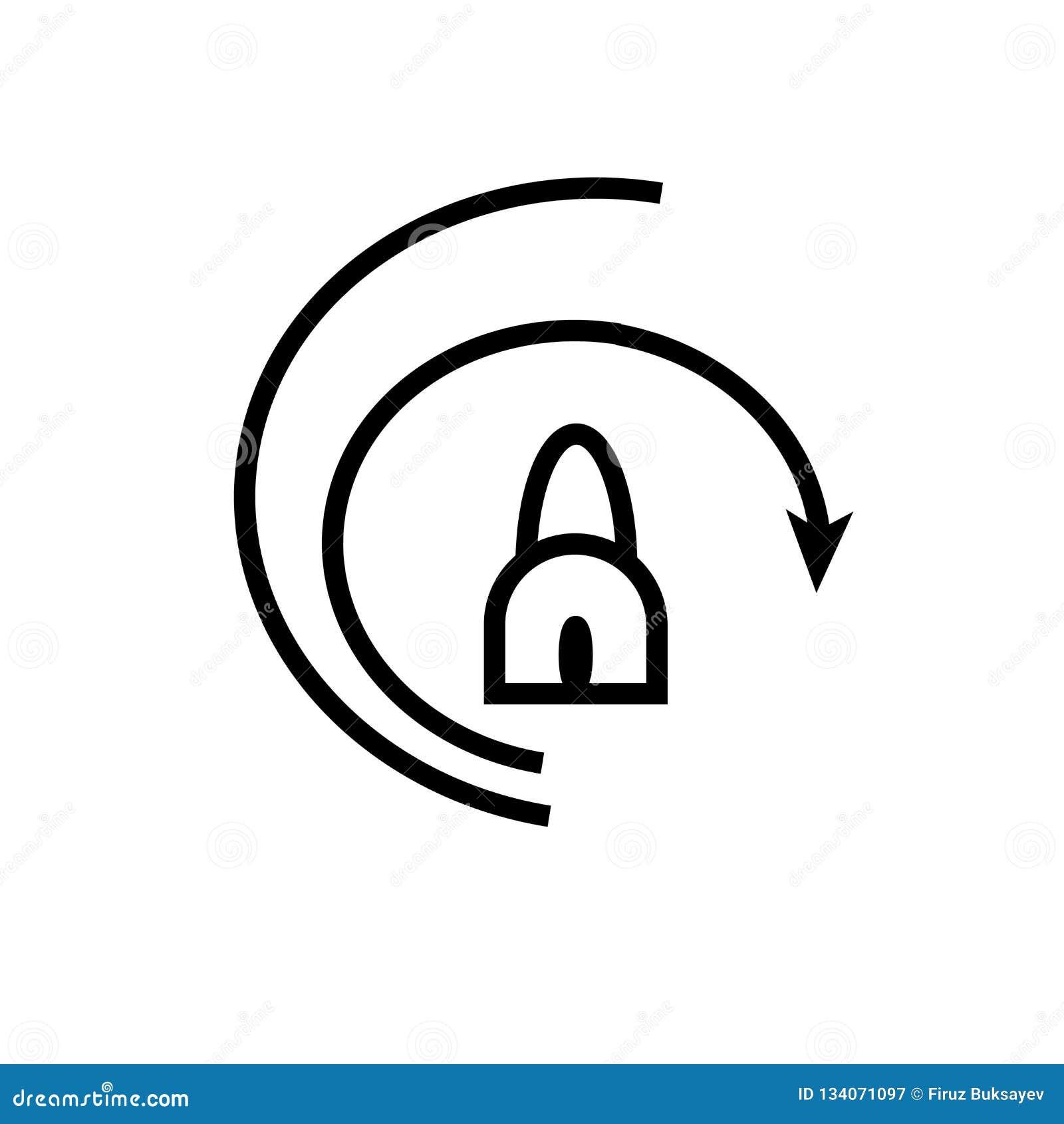 Glissière pour ouvrir le signe et le symbole de vecteur d icône d isolement sur le fond blanc, glissière pour ouvrir le concept d