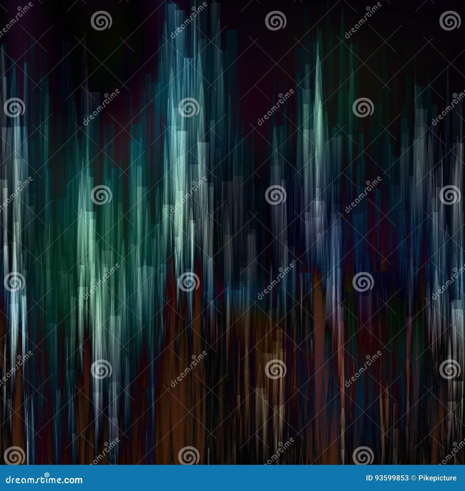 Glitch Achtergrondvector Het digitale abstracte ontwerp van het pixellawaai Kleurrijke Donkere Glitched-Strepen