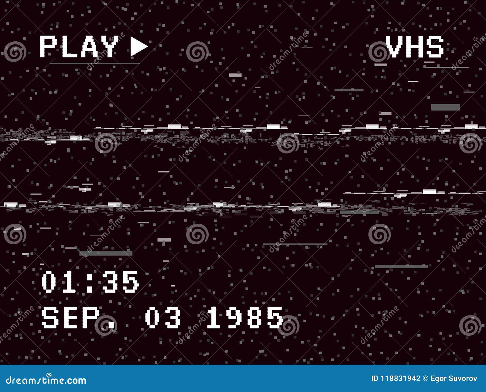 Glitch Camera Effect  Retro VHS Background  Old Video