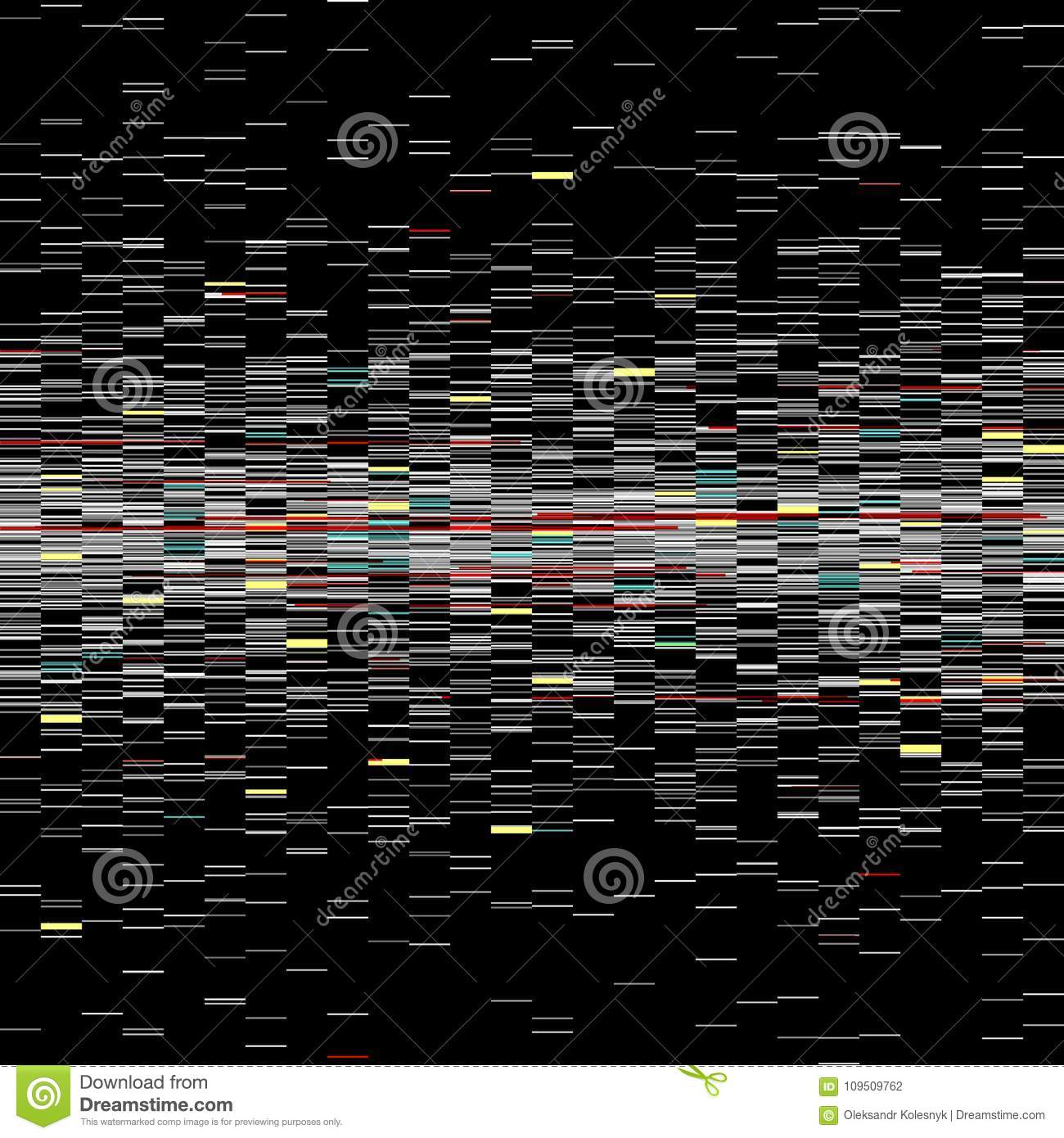 Glitch elements set. Computer screen error templates. Digital pixel noise abstract design. Video game glitch. Glitches
