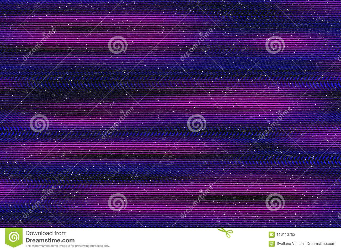 Glitch psychedelic background. Old TV screen error. Digital pixel noise abstract design. Computer bug. Television signal