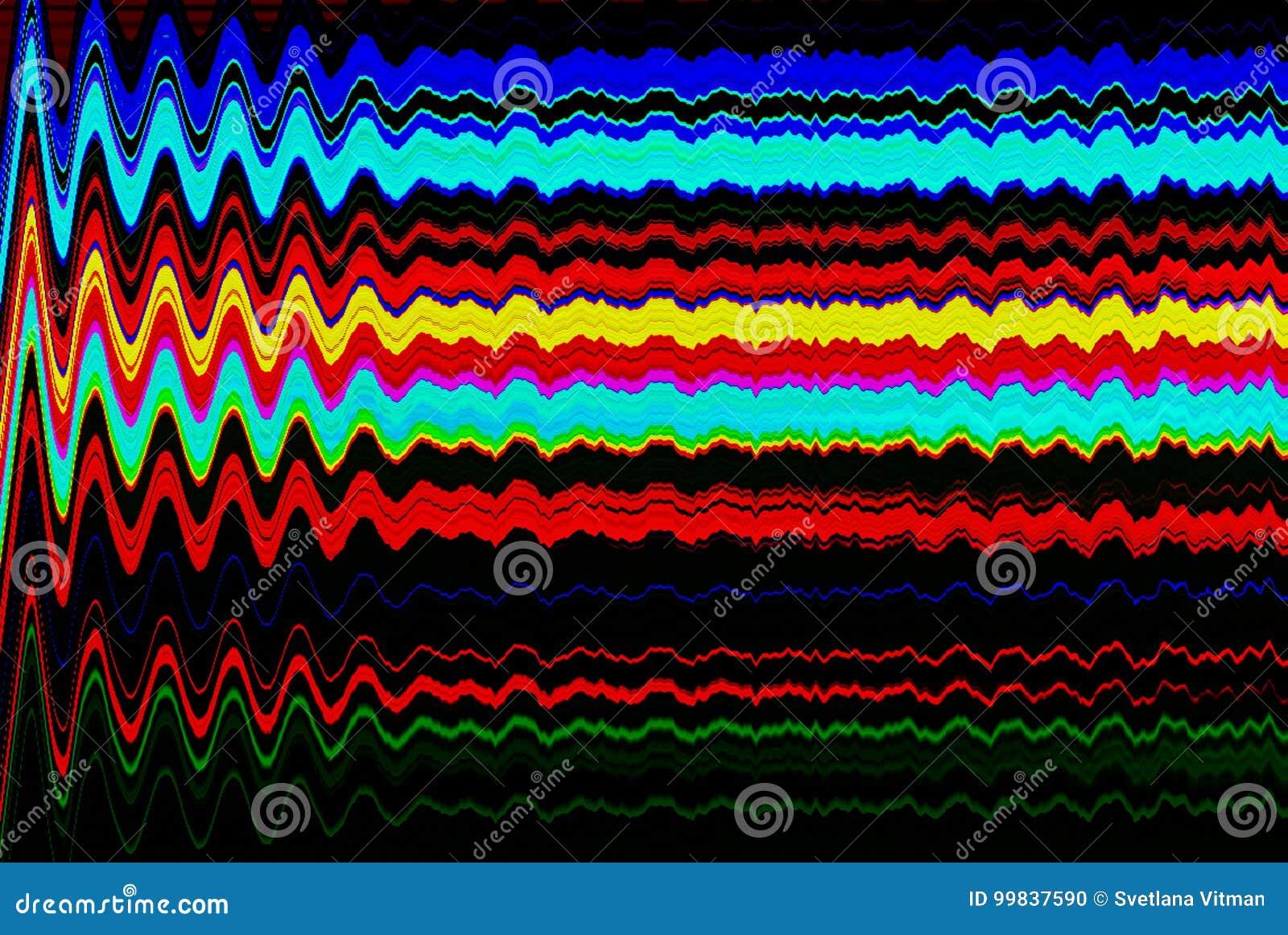 Glitch psychedelische achtergrond Oude TV-het schermfout Het digitale abstracte ontwerp van het pixellawaai Fotoglitch Televisies