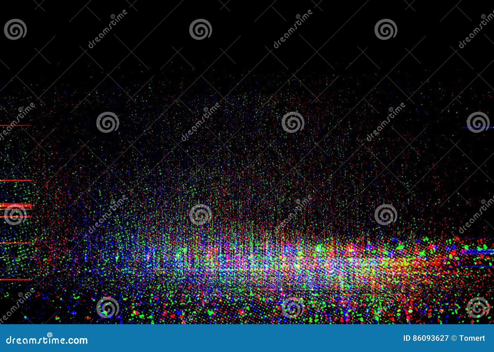 Glitch van het testscherm Textuur