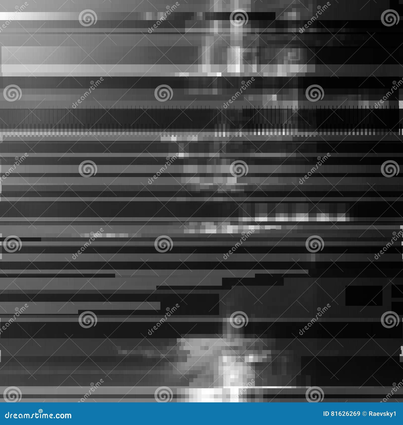 Glitched Resume El Fondo Del Vector Hecho De Mosaico Negro Del Pixel ...