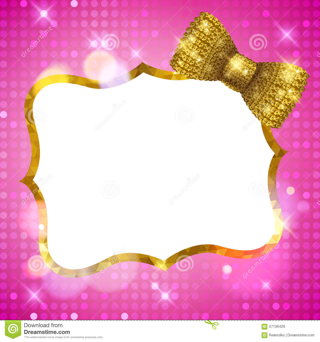 Glitter Glamour Shine Background Frame With Mosaic Stock Vector