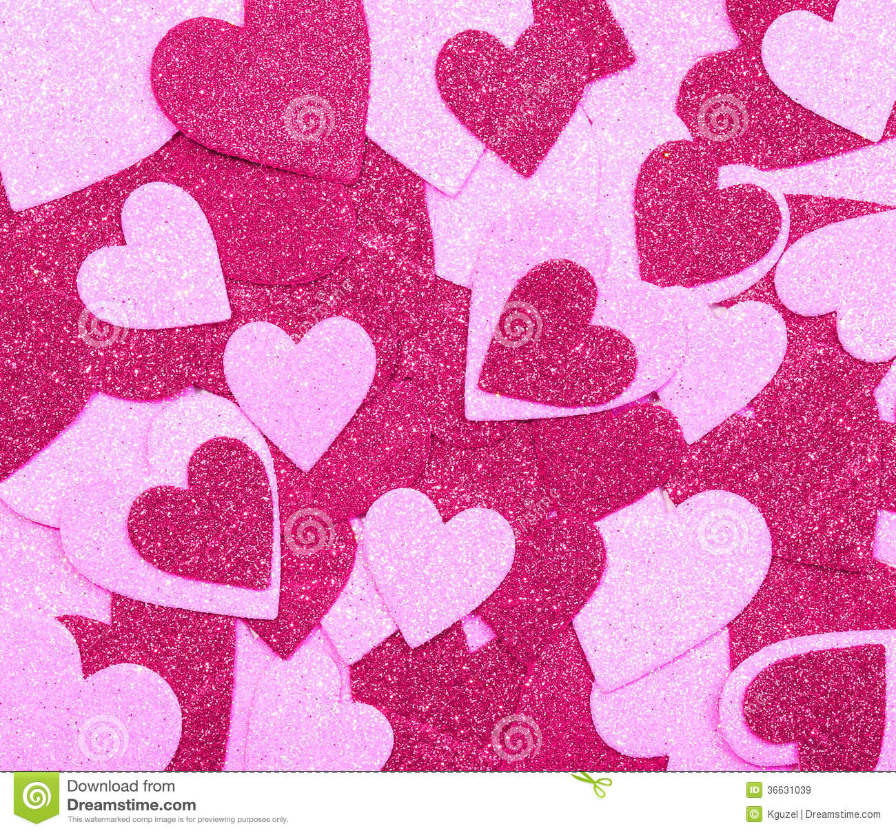 Glitter Hot Pink Hearts. Background. Valentines Day Stock ...