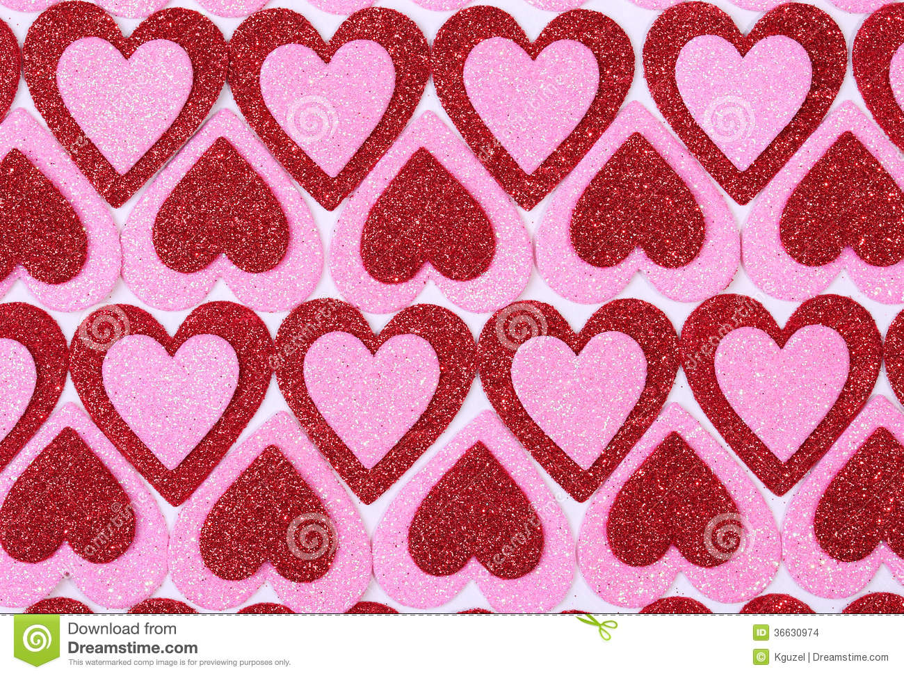 Glitter Red And Pink Hearts. Background. Valentines Day ...