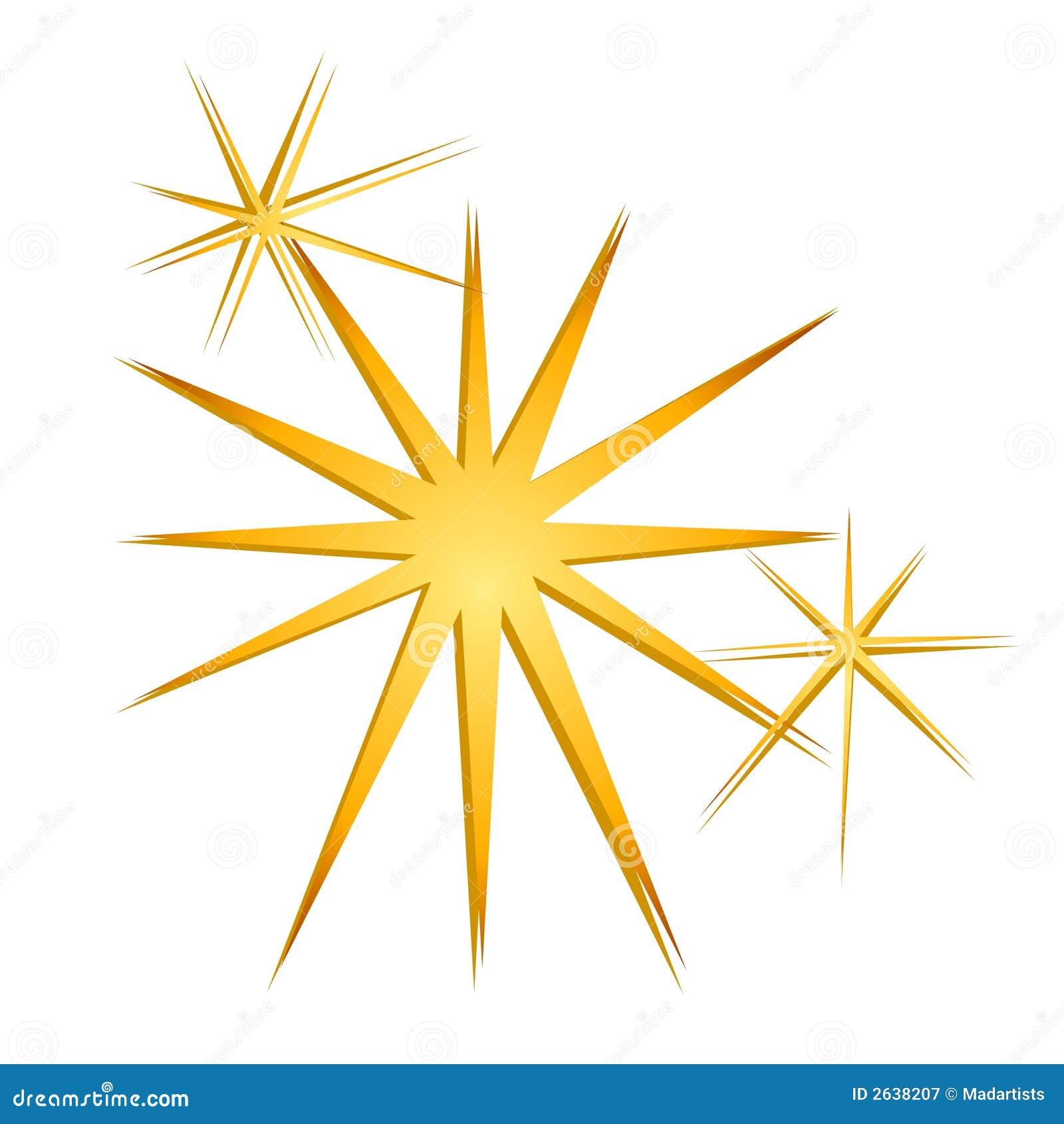 Glitter Sparkles Stars Gold Stock Illustration
