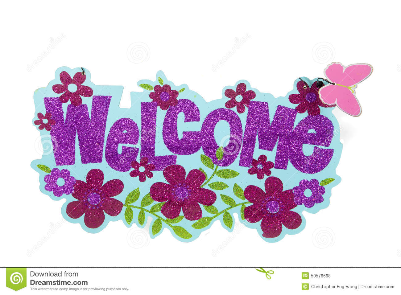 Glitter Welcome Sign Stock Photo Image 50576668