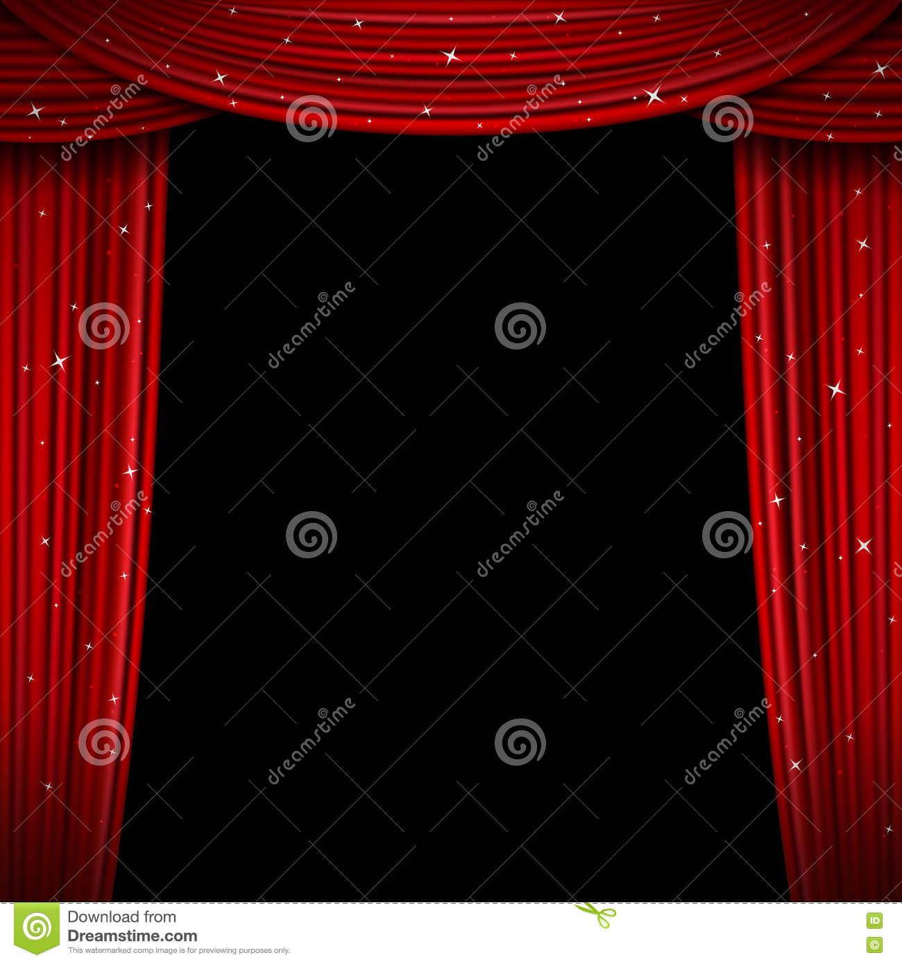 Blue stage curtains blue stage curtain vector free vector in - Glittering Red Curtain Vector Illustration Open Glitter Curtains Background Stock Vector