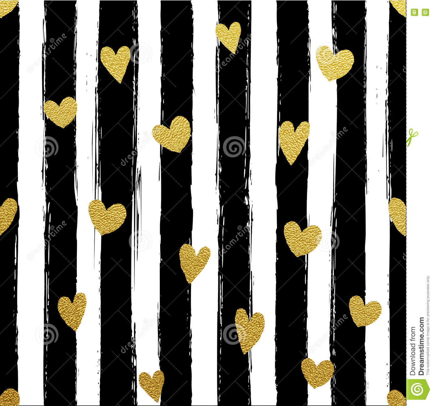 cestlaviv_Black Stripe Gold Hearts wallpaper - cest_la_viv ...