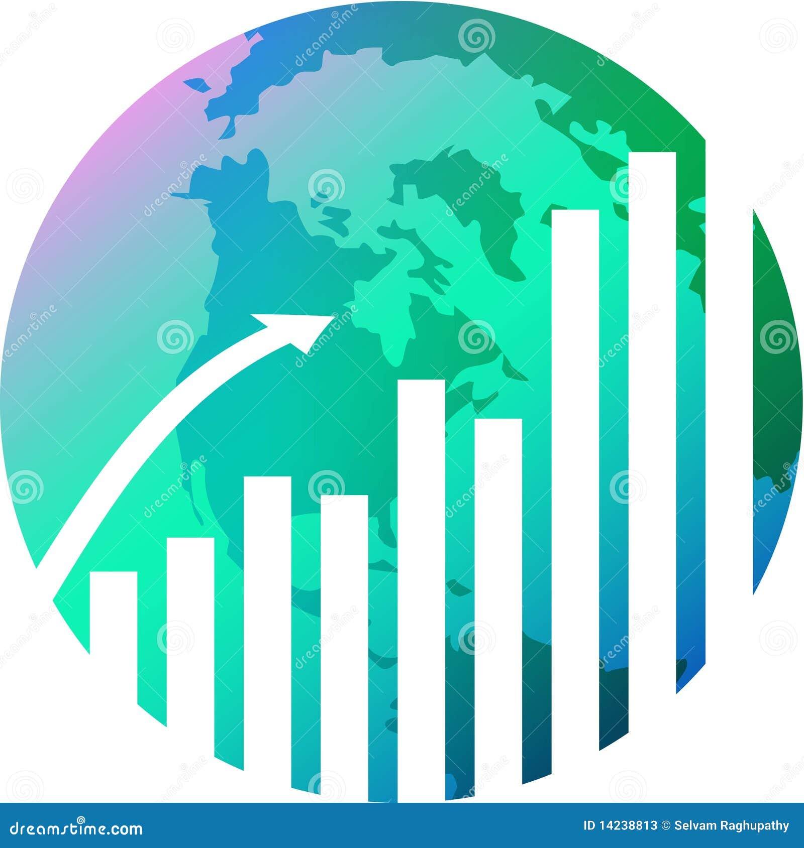 Glob met grafiek