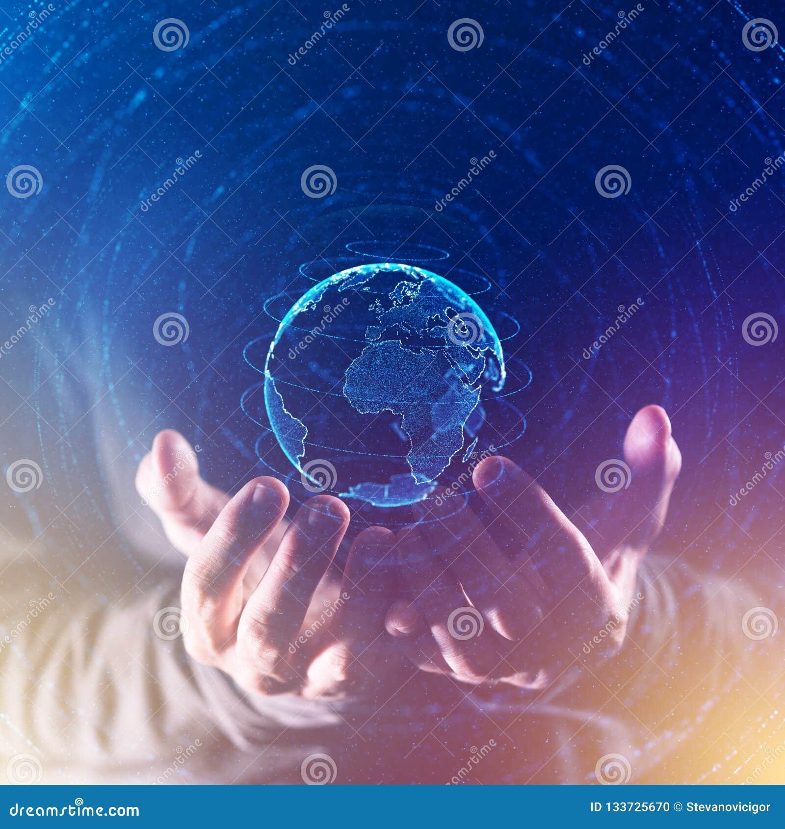 Globaal bedrijfs en communicatie concept