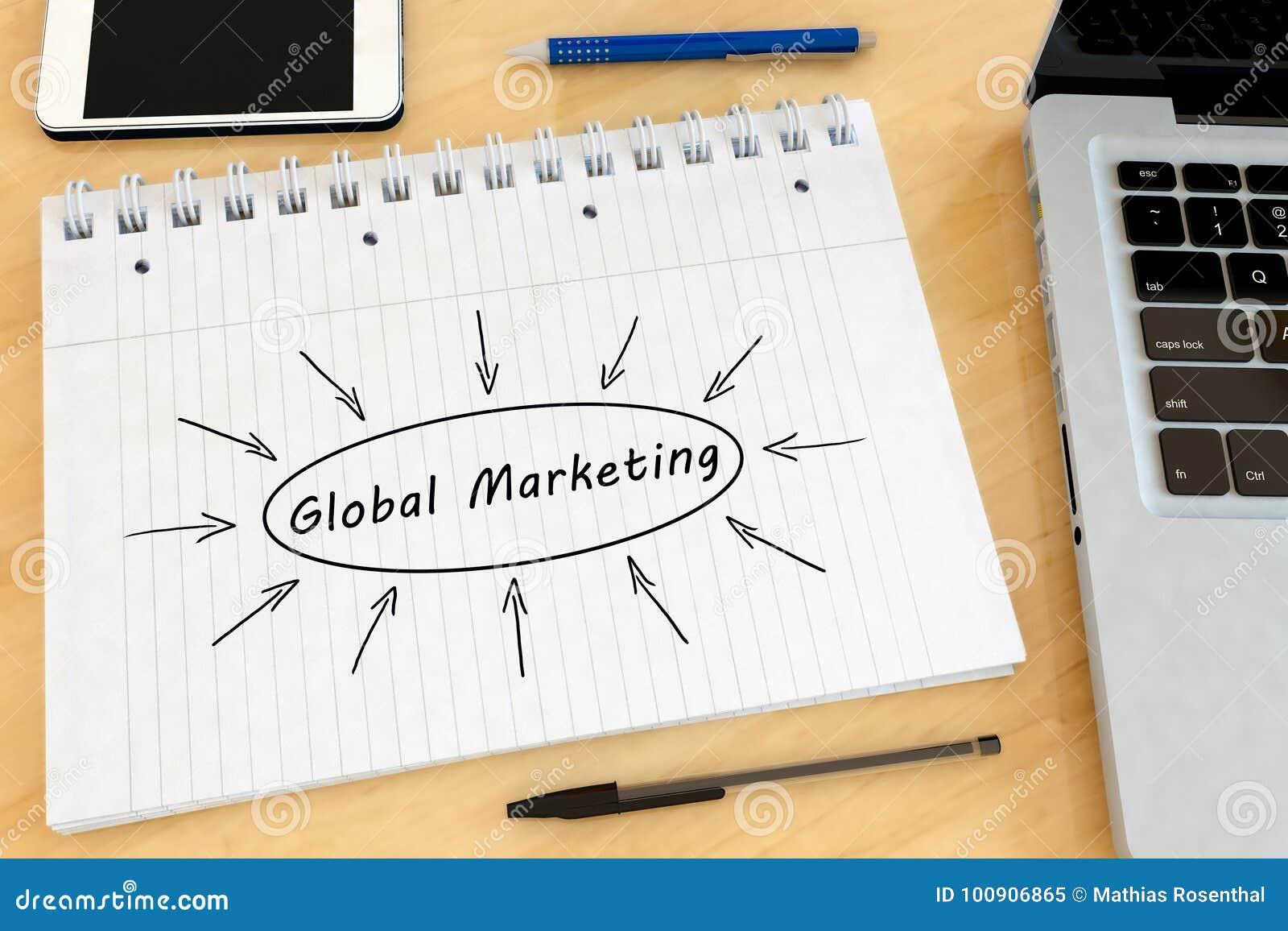 Globaal Marketing tekstconcept