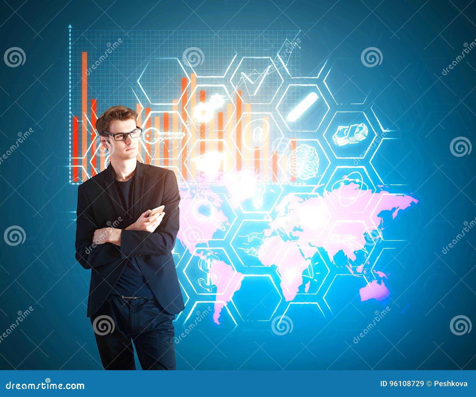 Globaal technologie en innovatieconcept