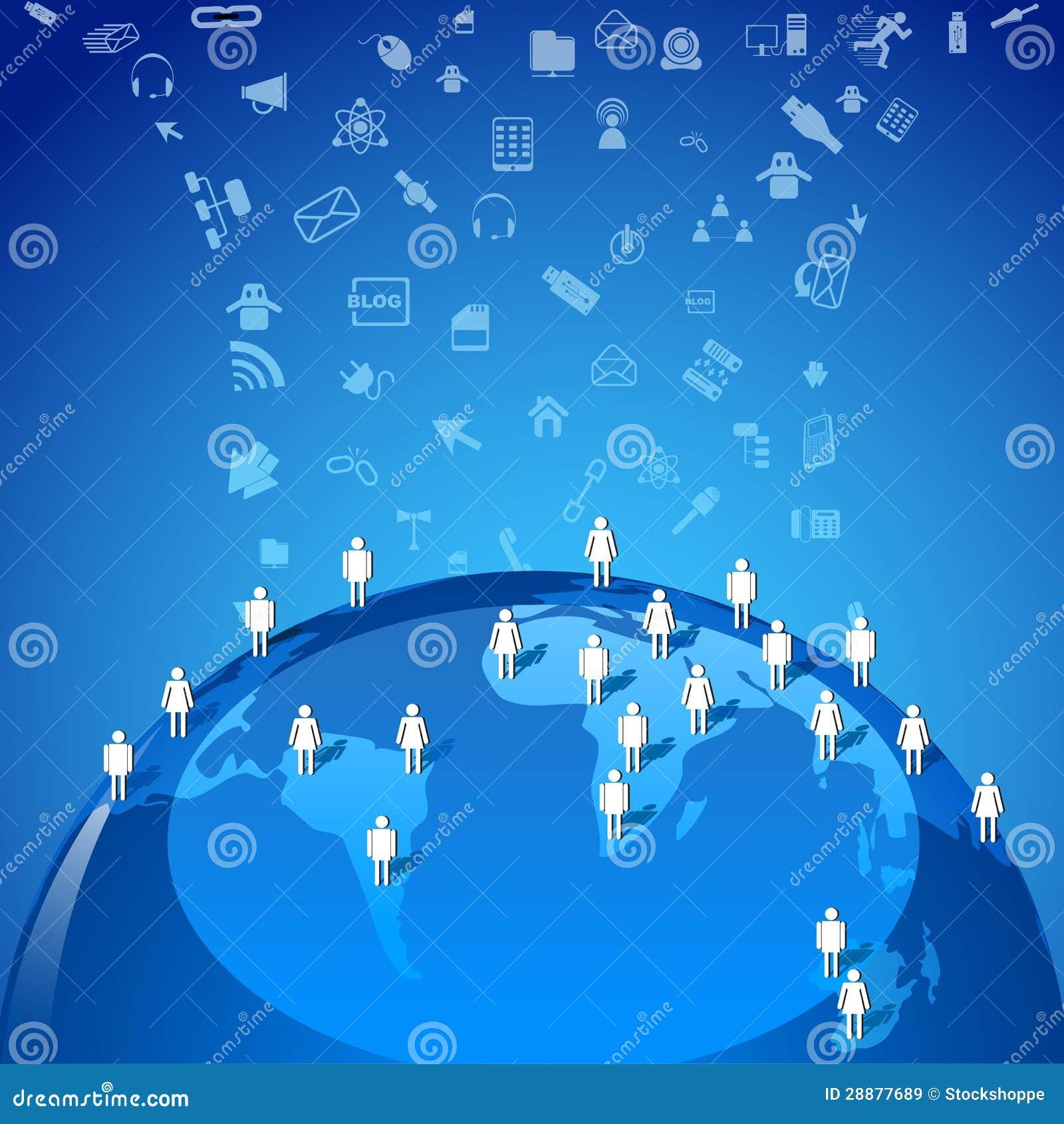 Globaal voorzien van een netwerk vector illustratie afbeelding 28877689 - Een wasruimte voorzien ...