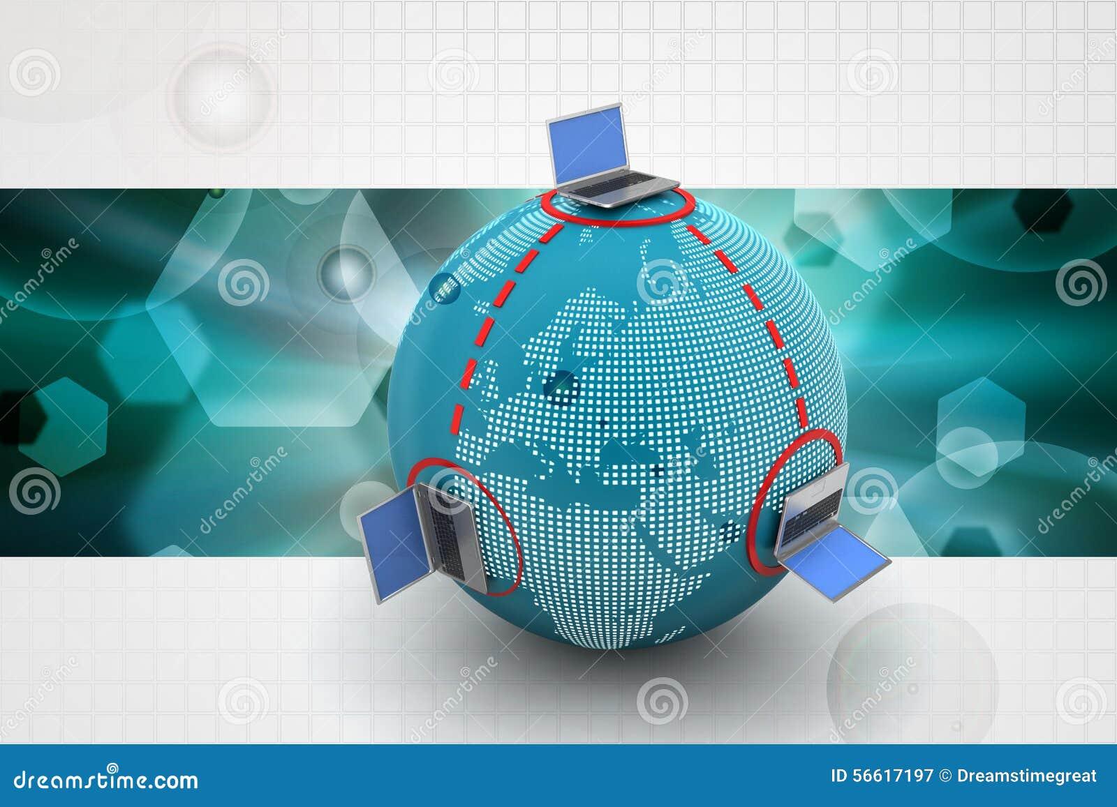Globaal voorzien van een netwerkconcept stock illustratie afbeelding 56617197 - Een wasruimte voorzien ...