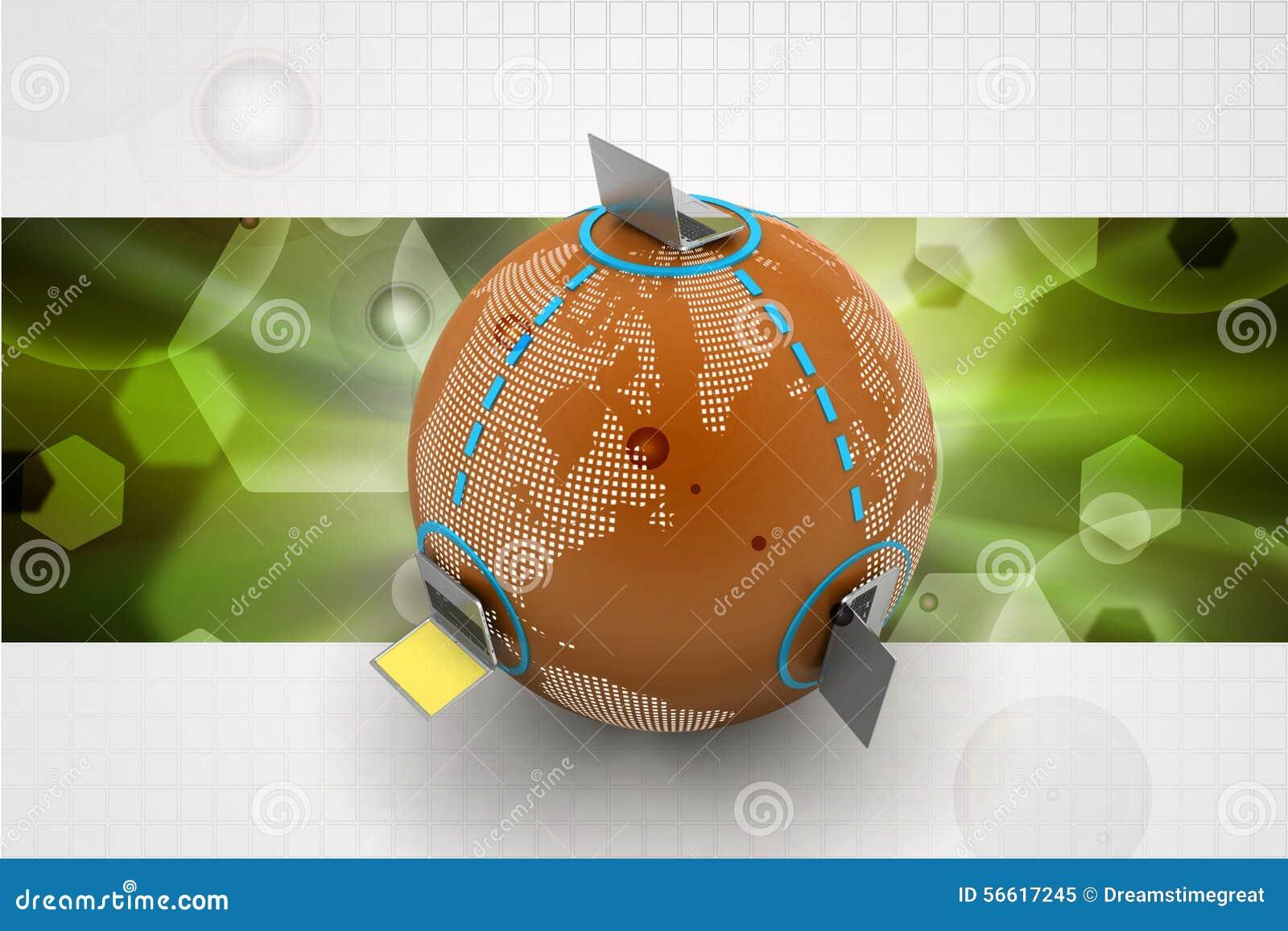 Globaal voorzien van een netwerkconcept stock illustratie afbeelding 56617245 - Een wasruimte voorzien ...