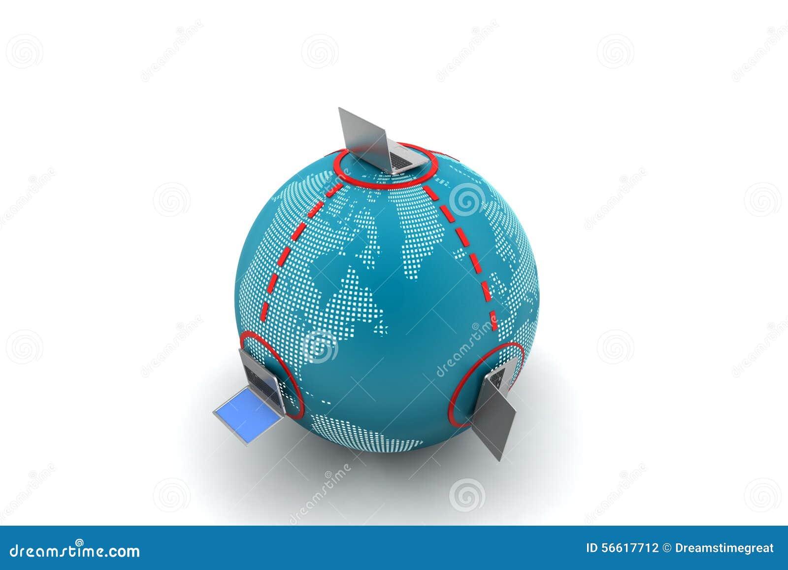 Globaal voorzien van een netwerkconcept stock illustratie afbeelding 56617712 - Een wasruimte voorzien ...