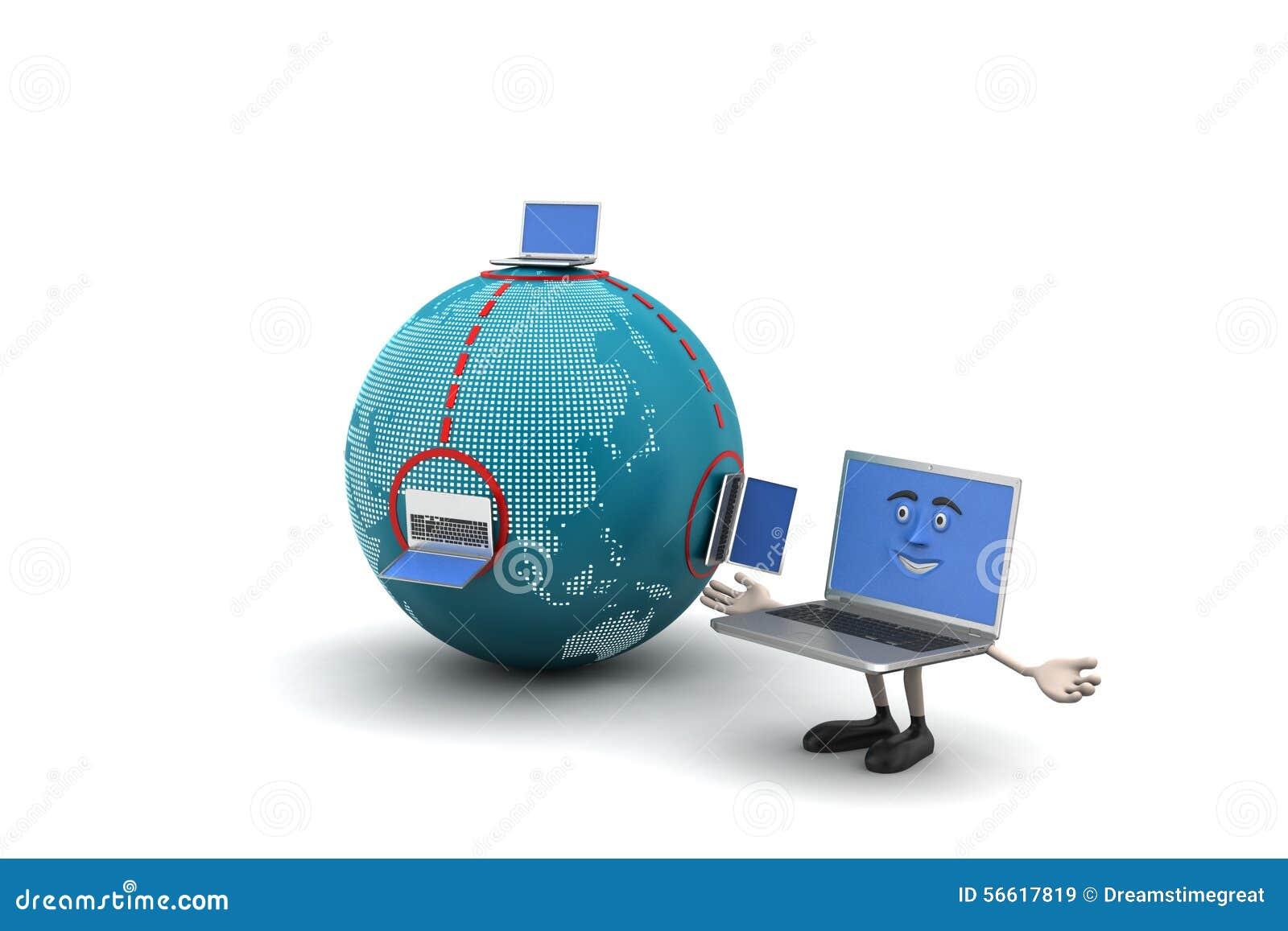 Globaal voorzien van een netwerkconcept stock illustratie afbeelding 56617819 - Een wasruimte voorzien ...