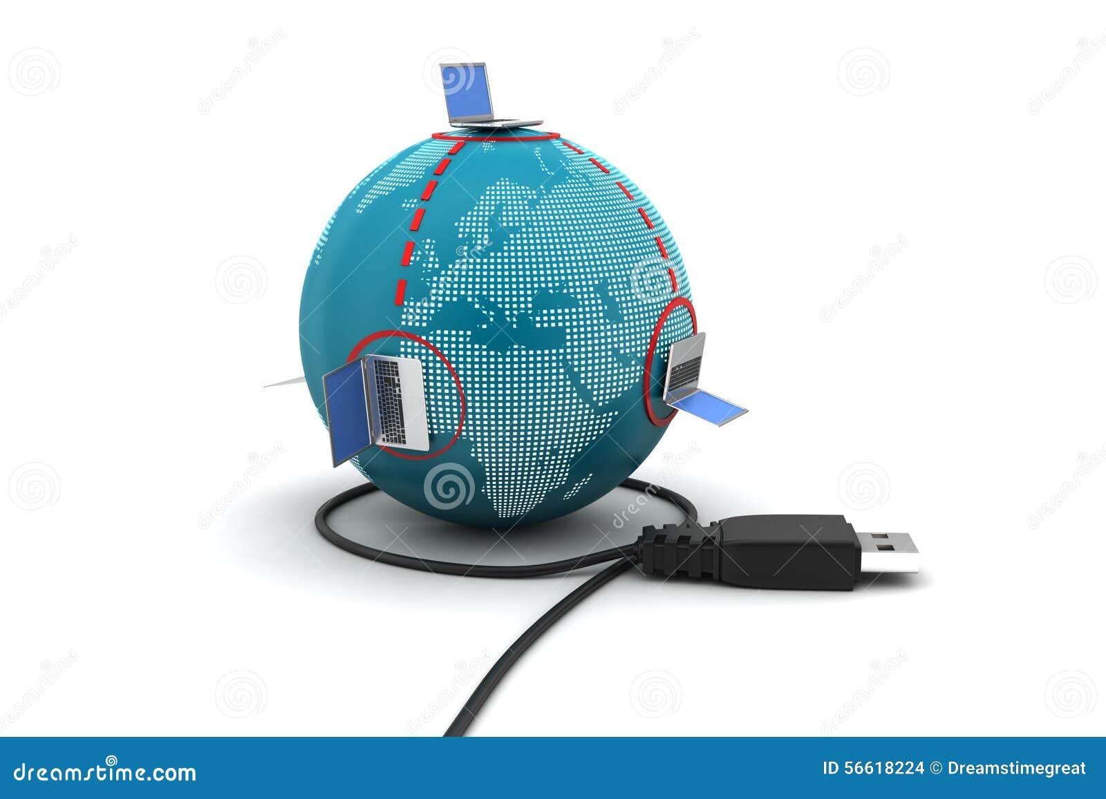 Globaal voorzien van een netwerkconcept stock illustratie afbeelding 56618224 - Een wasruimte voorzien ...