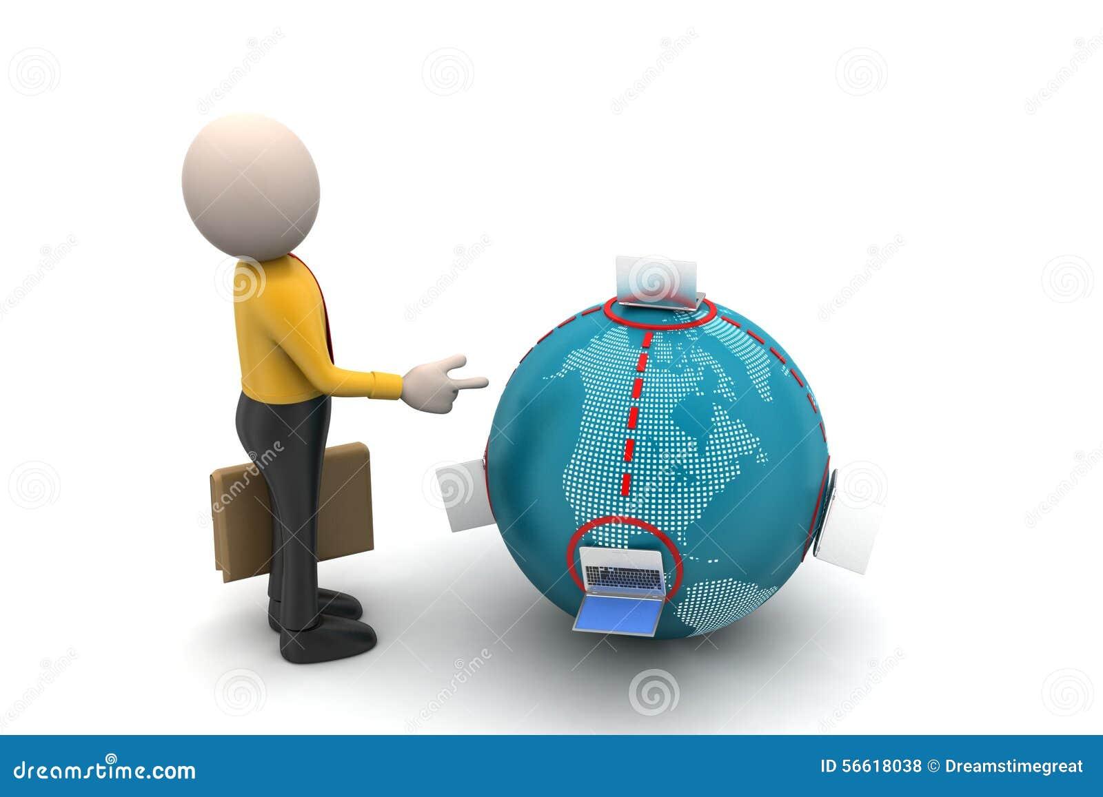 Globaal voorzien van een netwerkconcept met de mens stock illustratie afbeelding 56618038 - Een wasruimte voorzien ...