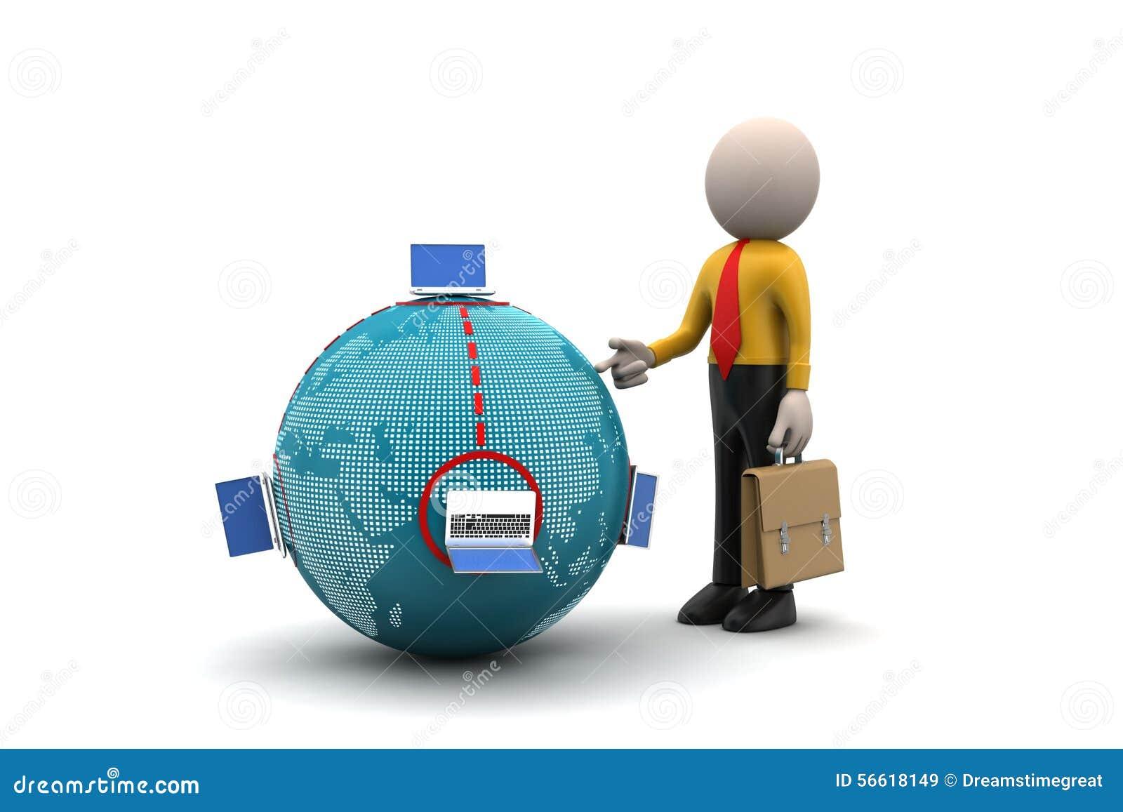 Globaal voorzien van een netwerkconcept met de mens stock illustratie afbeelding 56618149 - Een wasruimte voorzien ...