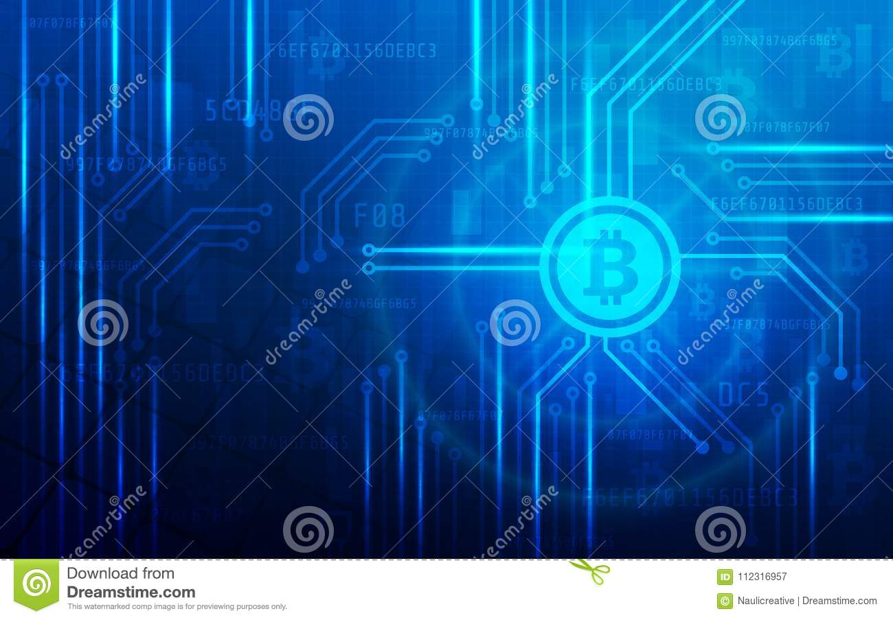 Ultra Hd Abstract Bitcoin Crypto Currency Blockchain Technology