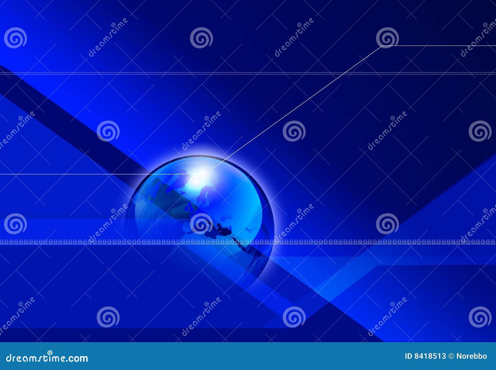 Stock Photos: Global Angular Blue Background. Image: 8418513