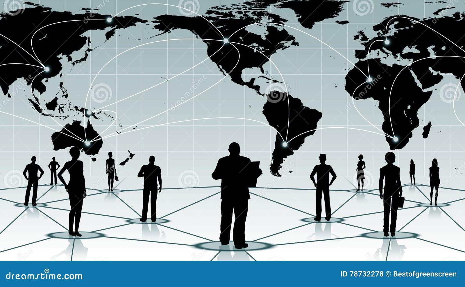 Global anslutning av det sociala affärsnätverket för folk